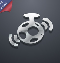 mirror ball disco icon symbol 3D style Trendy vector image