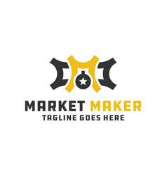 monogram letter m logo vector image