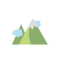 mountains gps map and navigation vector image