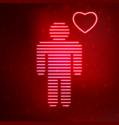 Neon icon love man vector