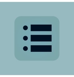 Pale blue dotted list icon vector