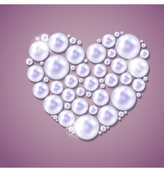 Pearl heart background vector image