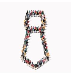 people shape tie vector image