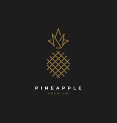 Pineapple logo design vector