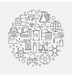 Pollution outline vector image