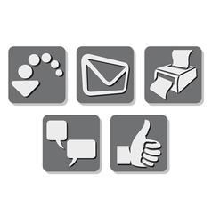 Printer icon - print button vector