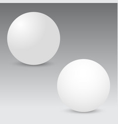 realistic white sphere ball 3d vector image