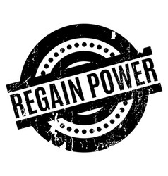Regain power rubber stamp vector