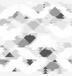 repeating grey pattern with geometric shapes vector image