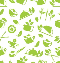 Seamless Pattern with Healthy Eating vector image