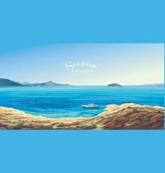 seascape with yacht symbolizing marine vector image