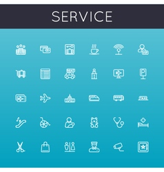 Service Line Icons vector