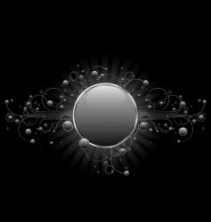 silver circle shield vector image
