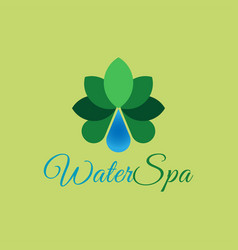 spa water drop logo template design vector image