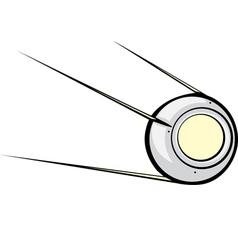 Sputnik satellite vector