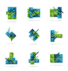 square option infographic banner set vector image