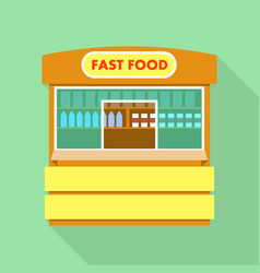 street fast food shop icon flat style vector image