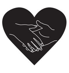 Symbol of love man and woman hholding vector