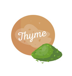 Thyme spices and label poster vector