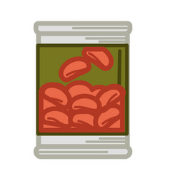 Tinned red beans vector