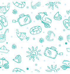 travel theme seamless pattern vector image