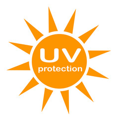 Uv protection logo and icon on white background vector