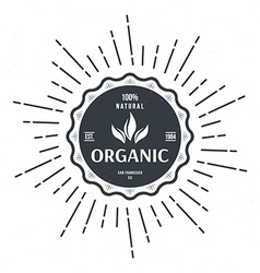 Vintage style label for organic food and drink vector