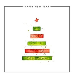 We wish you a Merry Christmas text on watercolor vector image