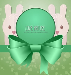 with nature and rabbit vector image