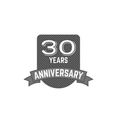 30 years Anniversary badge sign and emblem with vector image