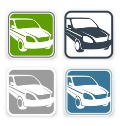 Auto square icons vector image