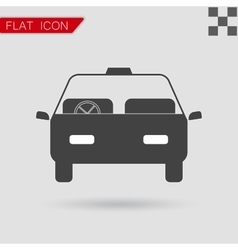 Car icon Flat Style with red vector image
