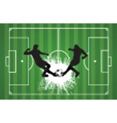 Football or soccer background with silhouettes of vector image vector image