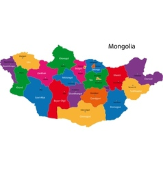 Mongolia map vector image vector image