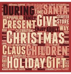 Christmas Article 39 text background wordcloud vector image vector image