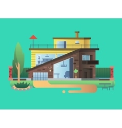 Modern country house vector image vector image
