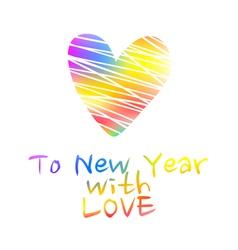 NY2016 Color Heart vector image