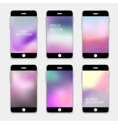 Phones Blurred Backgrounds vector image