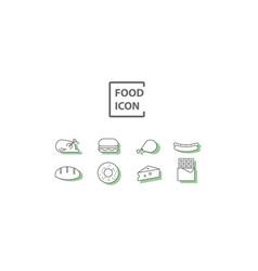 simple food icon vector image vector image