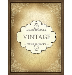 vintage background a4 vector image vector image
