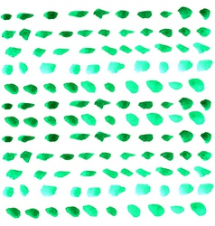Watercolor green drops over white vector image vector image