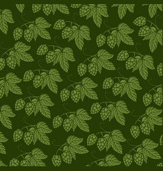 Background pattern with hops with hops vector