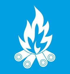 Bonfire icon white vector