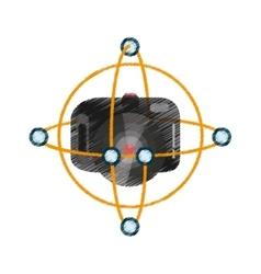 Drawing vr camera digital video function vector