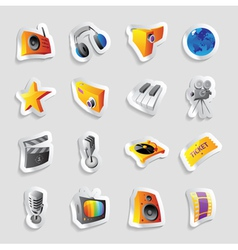Icons for media and music vector image vector image