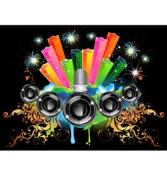 music celebration vector image vector image