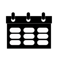 simple wired calendar vector image