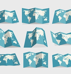 World map collection vector image