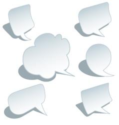blank speech bubbles set vector image