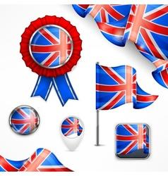 British national symbols vector image vector image
